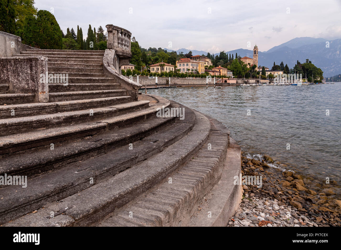 The town of Tremezzo by Lake Como in northern ItalyStock Photo