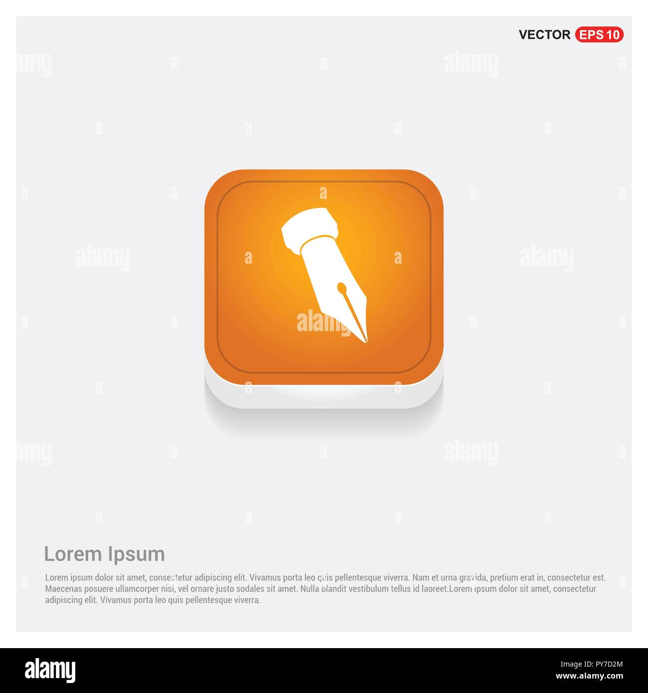 Pen nib icon - Stock Image