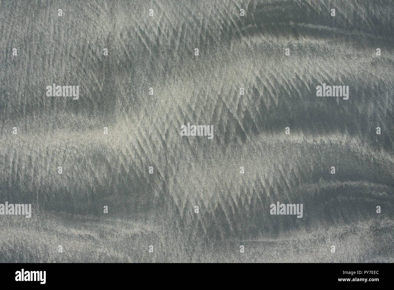 Waves washed sand textures. Natural patterns, abstract backdrop. Santa Catalina, Panama. RF - Oct 2018 - Stock Image