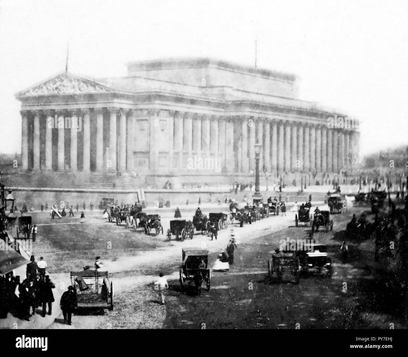 St. George's Hall, Liverpool in the 1870s - Stock Image