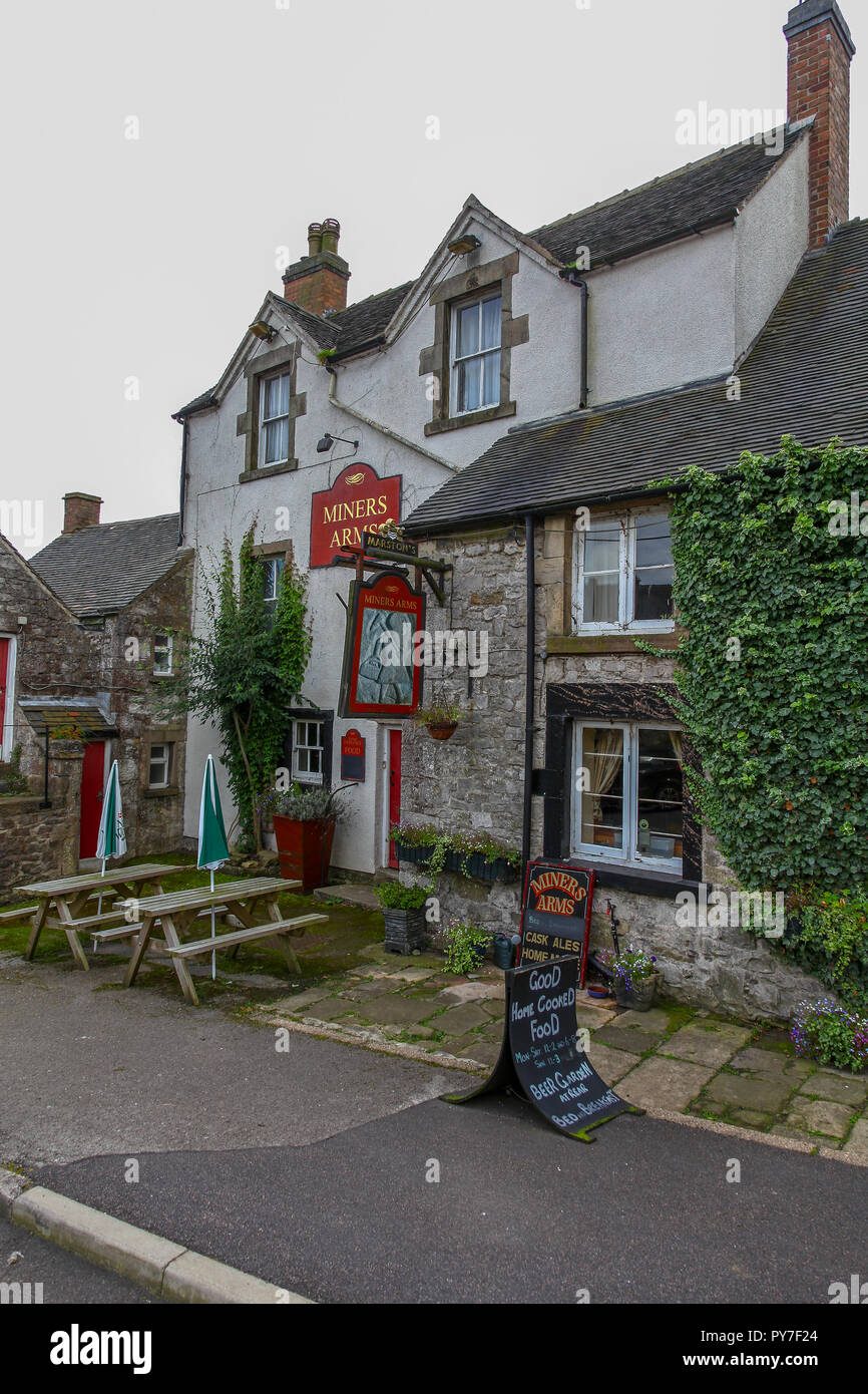 Miners Arms Public House or Pub, in the village of Brassington, Derbyshire, England, UK - Stock Image