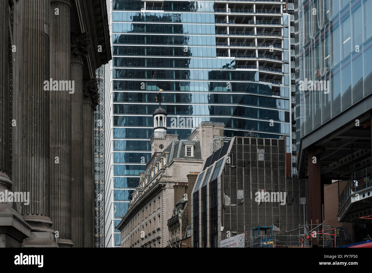 UK, City of London,New office development  in the financial district - Stock Image