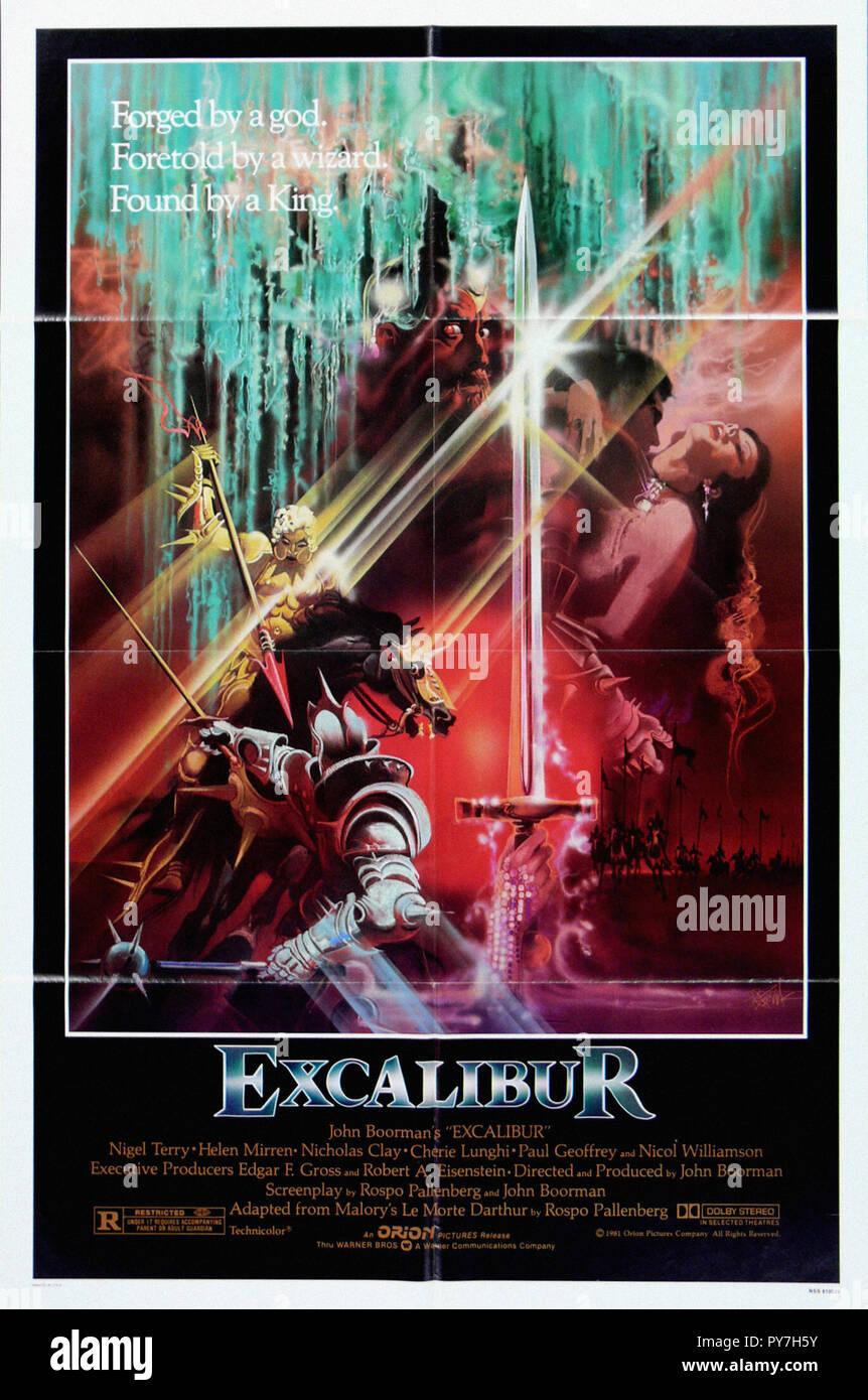 Excalibur - Original Movie Poster - Stock Image