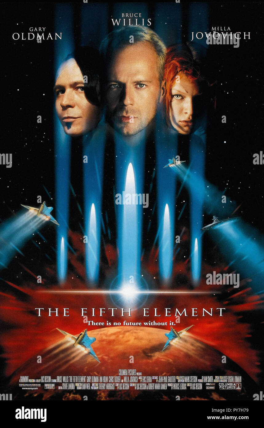 The Fifth Element- Original Movie Poster - Stock Image