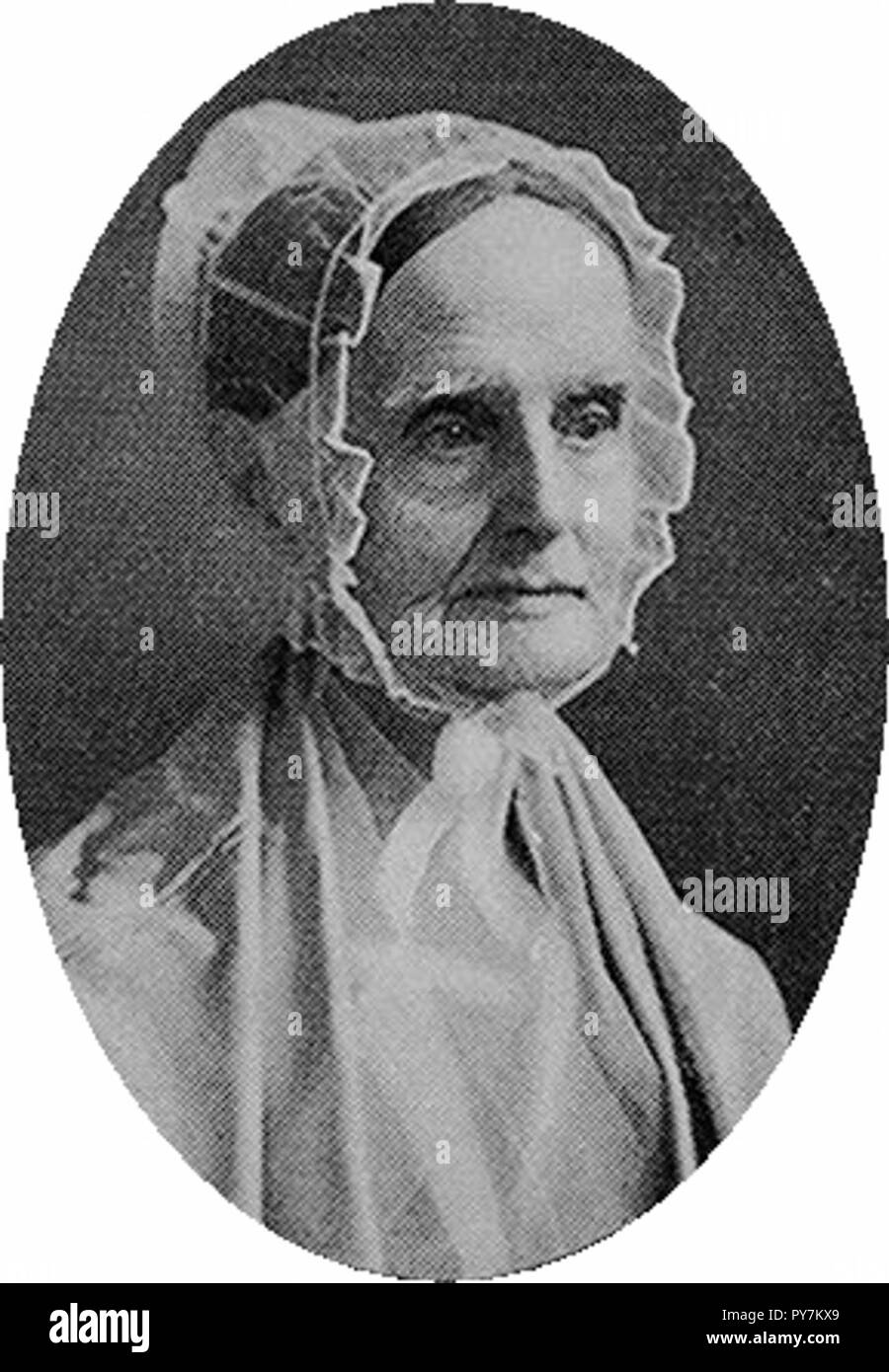 Lucretia Mott was a guiding light of the conventions, and presided over two of them. - Stock Image