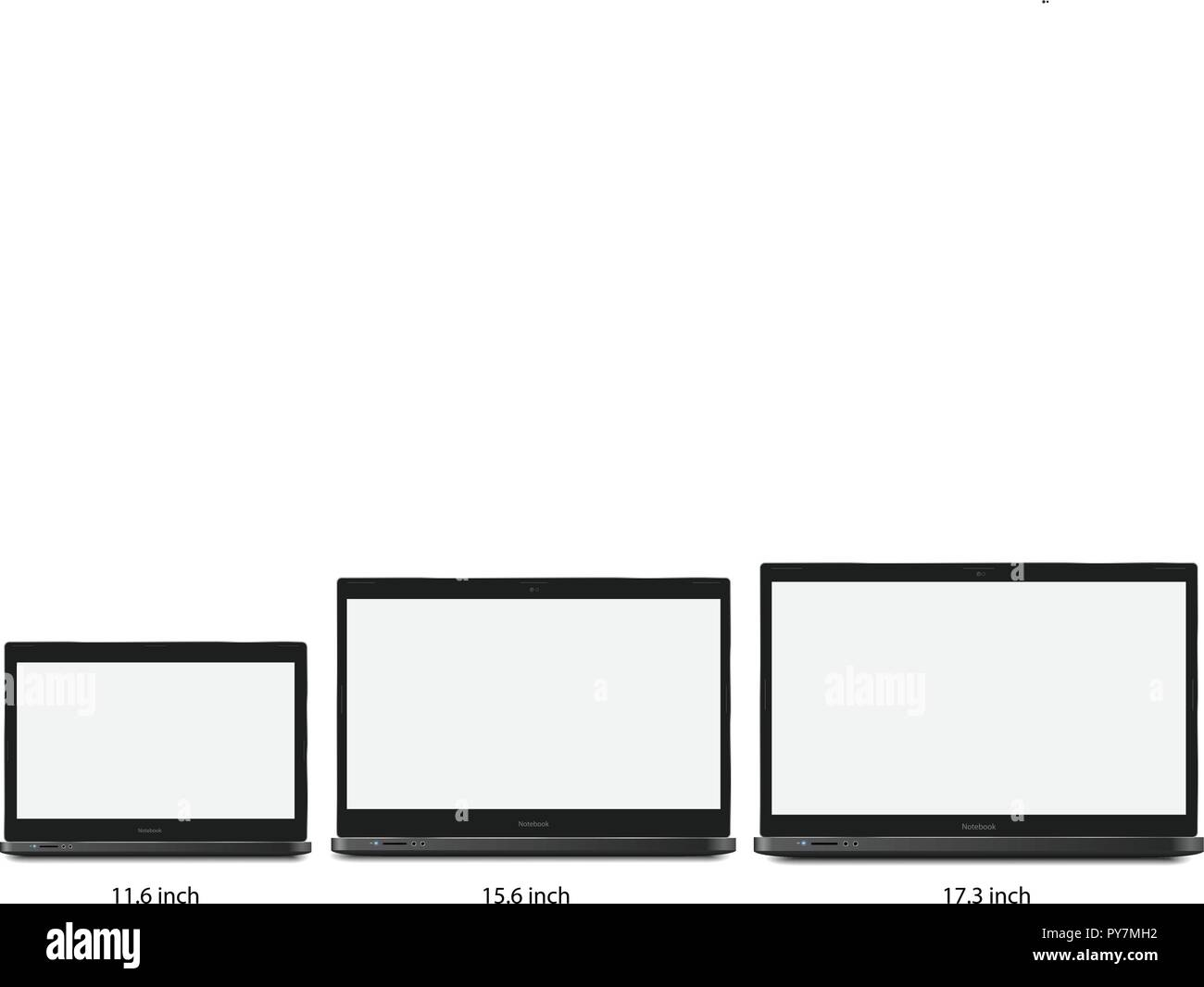 Notebook Laptop Template - Stock Image