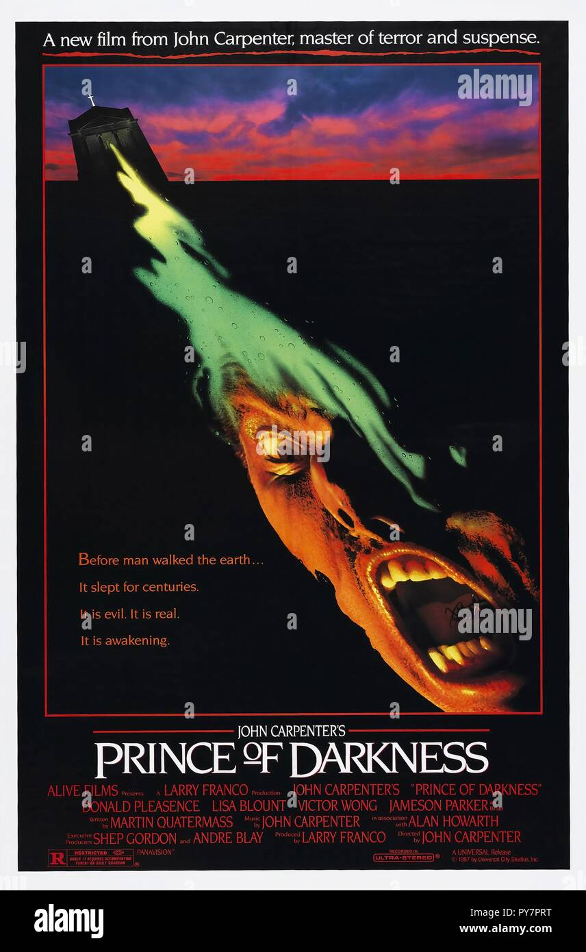 Original film title: PRINCE OF DARKNESS. English title: PRINCE OF DARKNESS. Year: 1987. Director: JOHN CARPENTER. - Stock Image