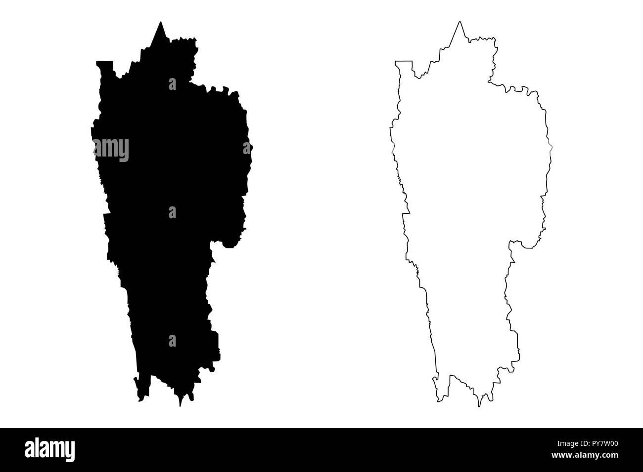India Map With States Cut Out Stock Images & Pictures - Alamy