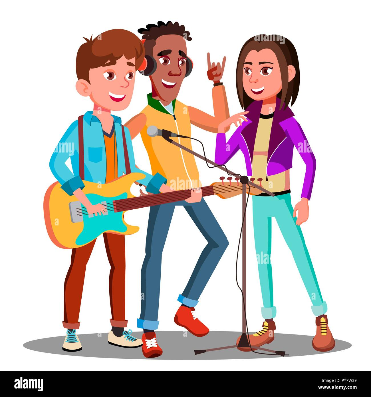 Music Band Cut Out Stock Images & Pictures - Alamy