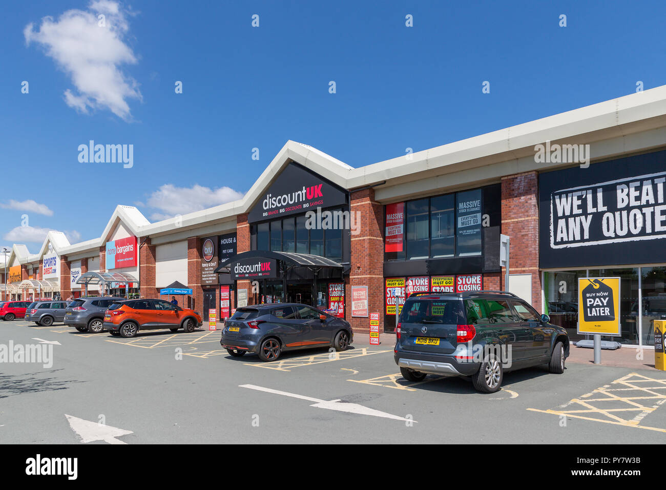 Warrington Branch Of Discount Uk On The Riverside Retail Park The Store Has Now Closed Stock Photo Alamy