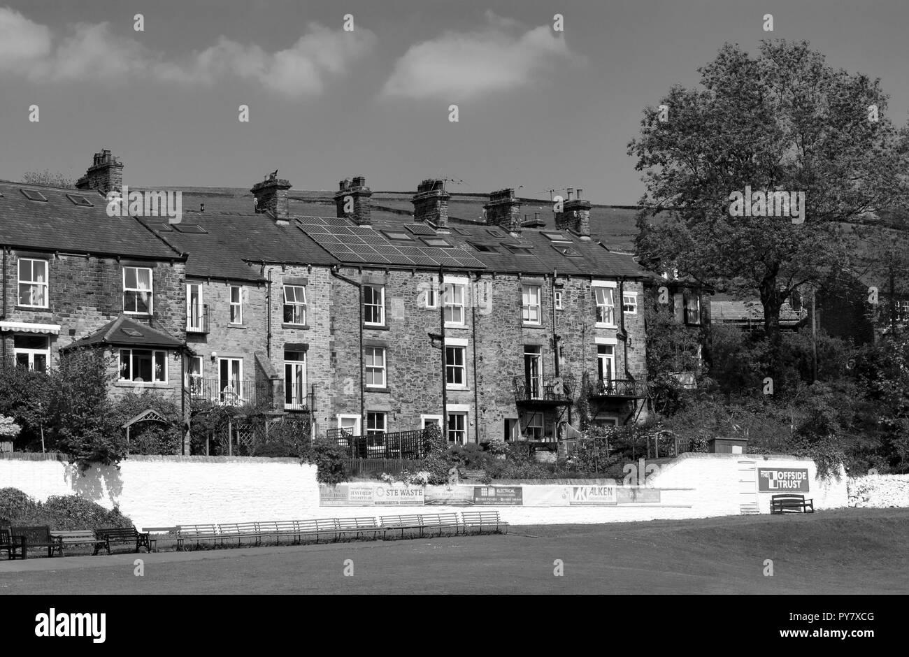 Hayfield Cottages, Derbyshire - Stock Image