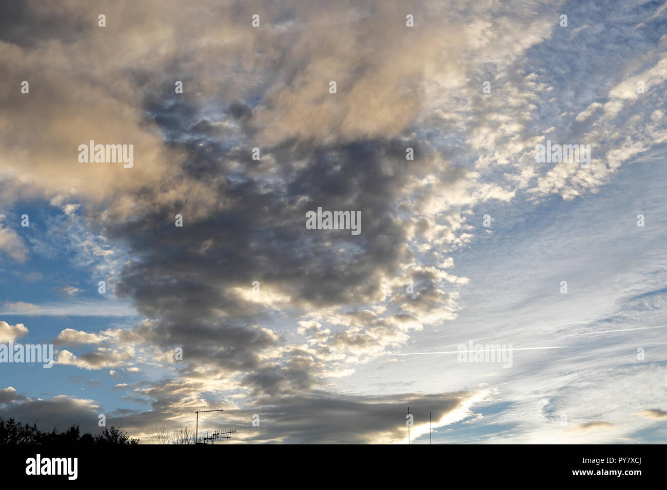 Evening Clouds Skyscape - Stock Image