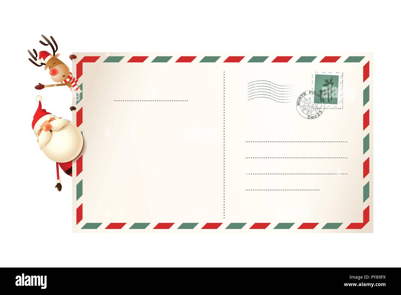 santa mail cut out stock images pictures alamy. Black Bedroom Furniture Sets. Home Design Ideas