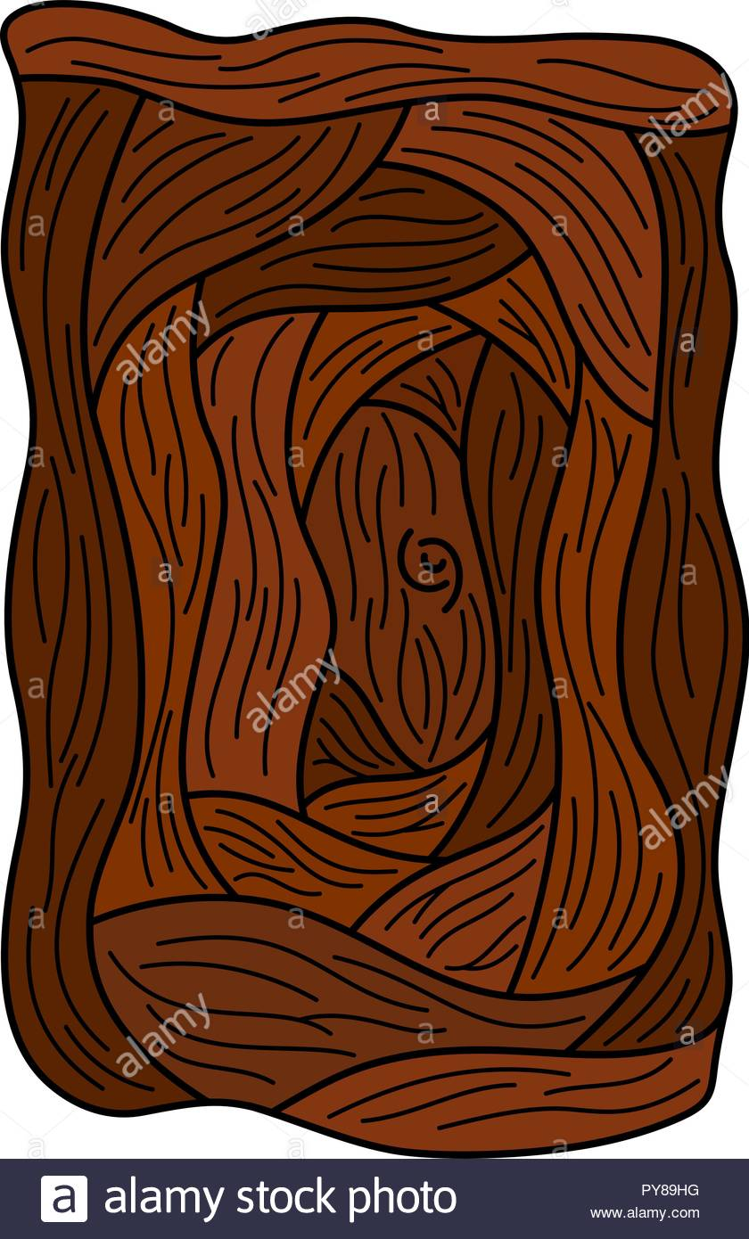 Cartoon drawing of a whimsical door, vector illustration - Stock Image