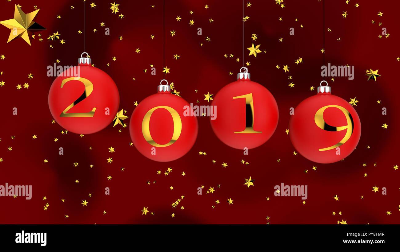 Image De Noel 2019.2019 Christmas Balls Stock Photo 223308087 Alamy
