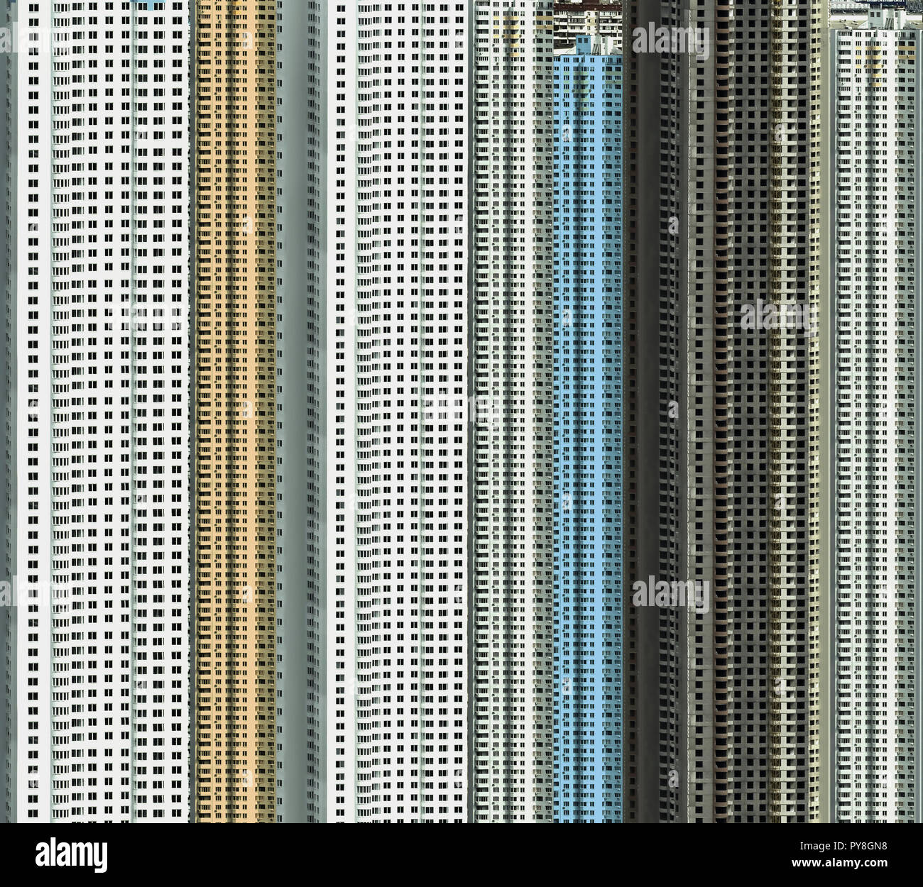 Grandiose building of new microdistrict in city - Stock Image