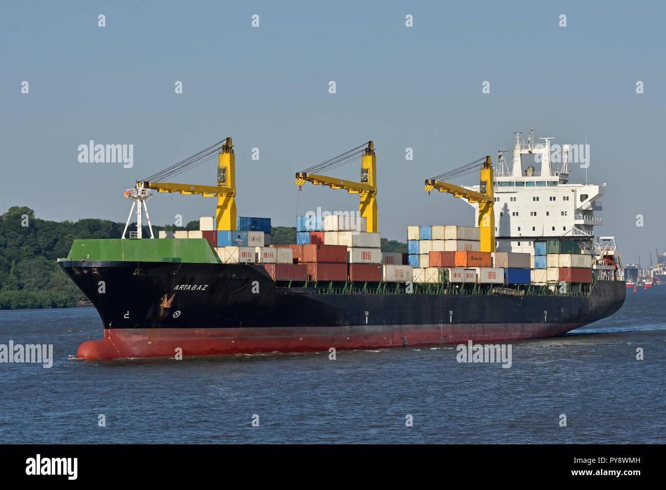 Iranian containervessel ArtabazStock Photo