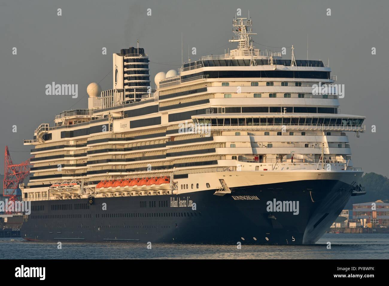 HAL's Koningsdam arrives at the port of KielStock Photo