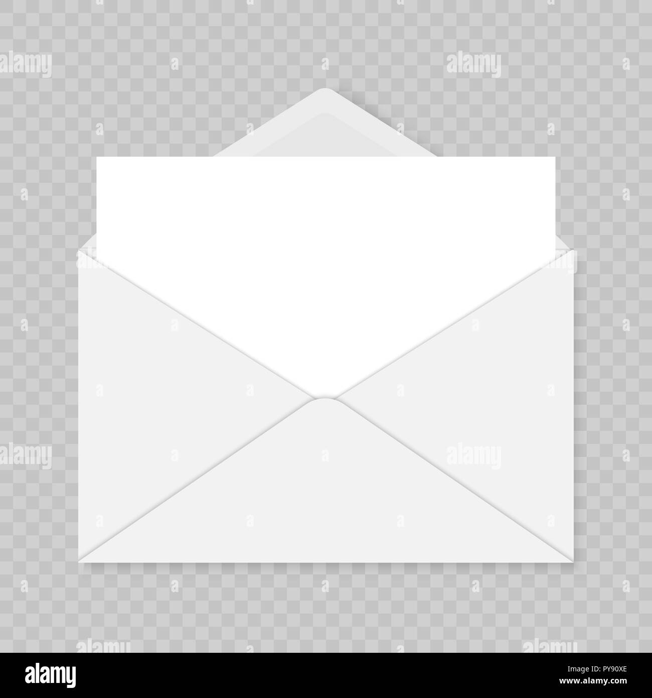 Mail Envelope Template Over Transparent Background Greeting Card