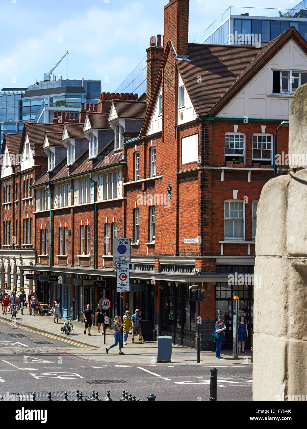 Old Spitalfields Market overall exterior view. Architectural Stock, London, United Kingdom. Architect: NA , 2017. - Stock Image