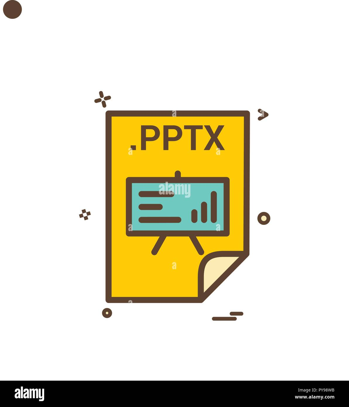 pptx application download file files format icon vector design stock