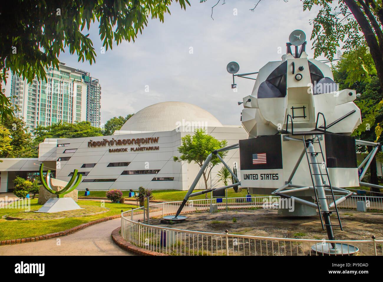 Bangkok, Thailand - November 4, 2017: Model of The Apollo Lunar Module, the lander portion of the Apollo spacecraft built for the US Apollo program th - Stock Image