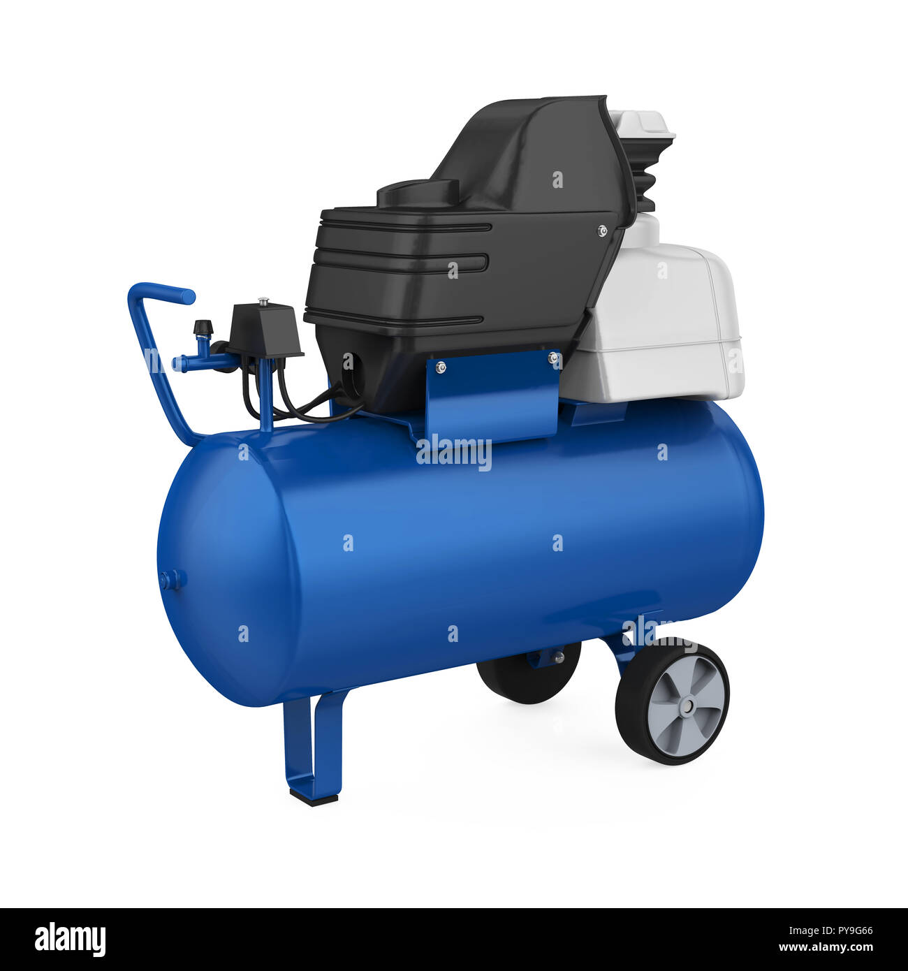Air Compressor Isolated - Stock Image