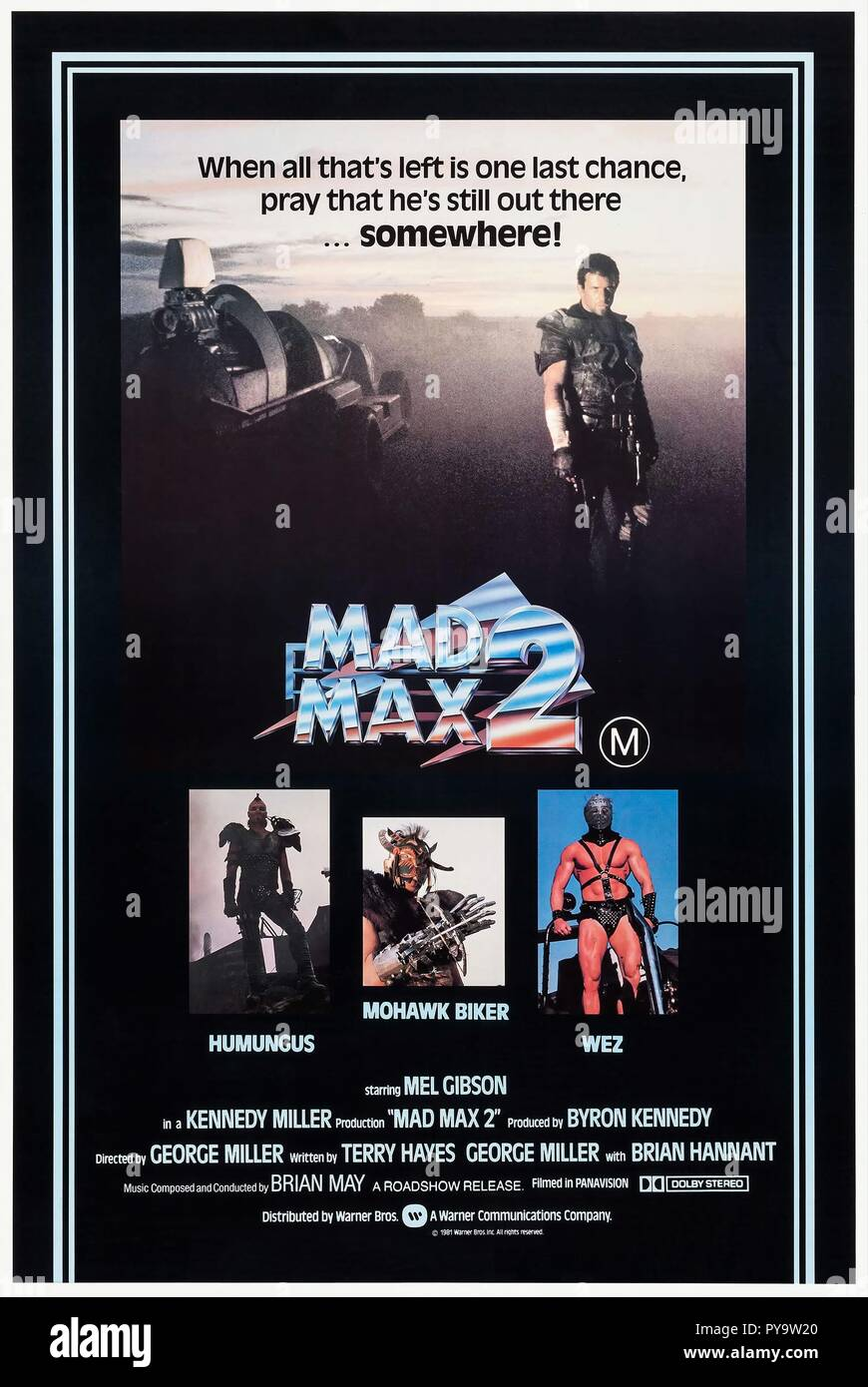 Original film title: THE MAD MAX II: ROAD WARRIOR. English title: THE MAD MAX II: ROAD WARRIOR. Year: 1981. Director: GEORGE MILLER. Credit: WARNER BROTHERS / Album Stock Photo