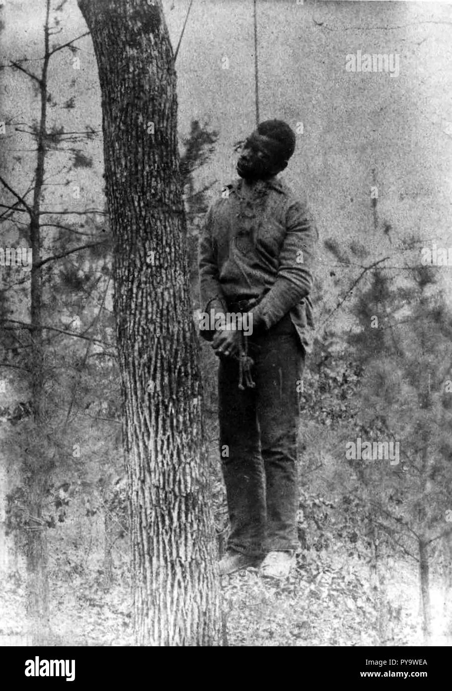 GEORGE MEADOWS Afro-American lynched near the Pratt Mines in Jefferson County, Alabama, 15 January 1889 - Stock Image