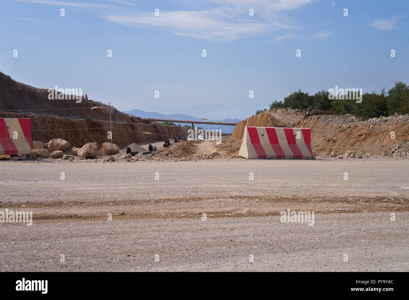 The Bar-Boljare motorway in Montenegro, build by China Road and Bridge Corporation (CRBC), represents the Montenegrin part of the Bar-Belgrade motorwa Stock Photo