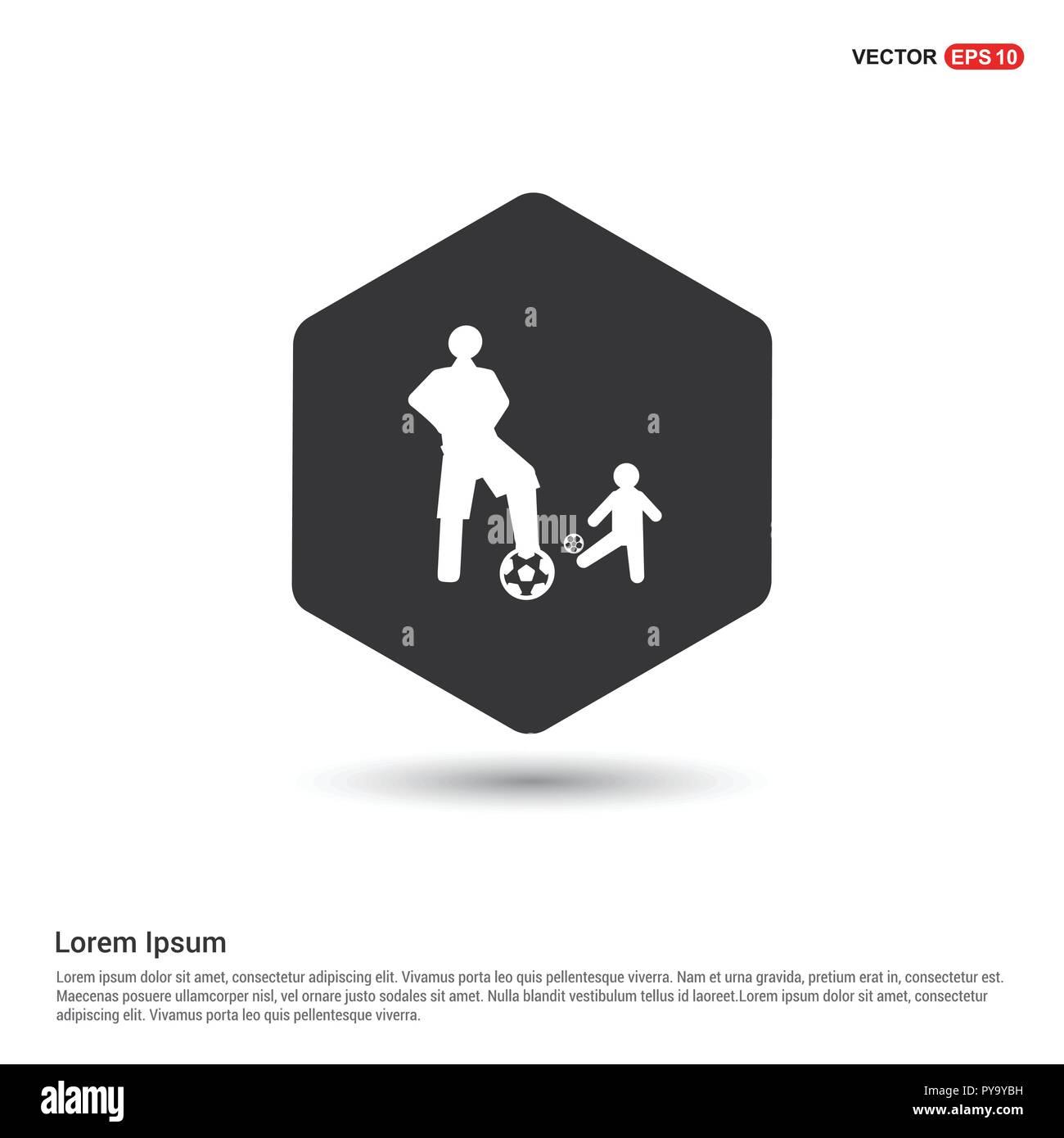 football player icon hexa white background icon template free