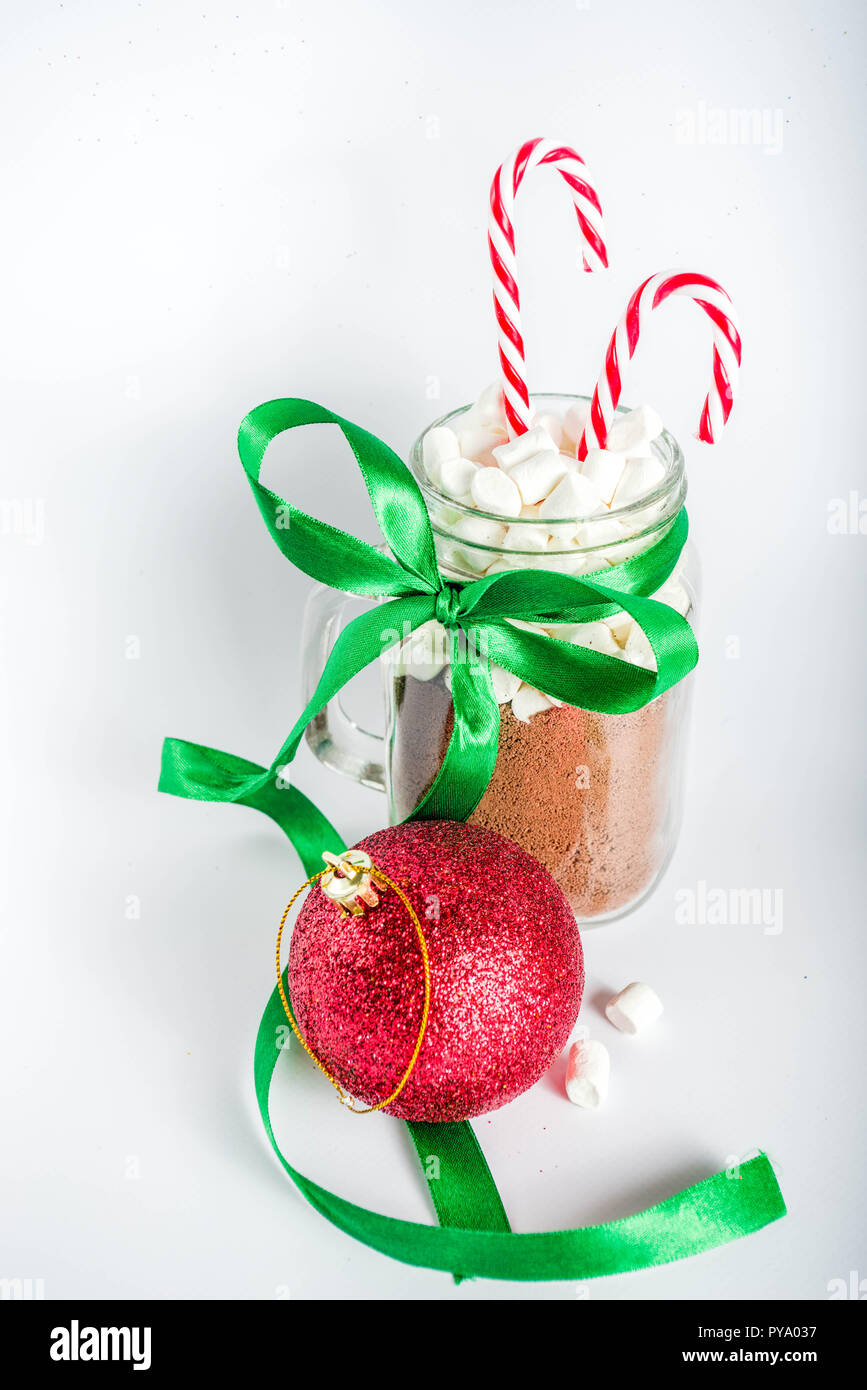 Creative idea for christmas gift, Ingredients for hot chocolate ...