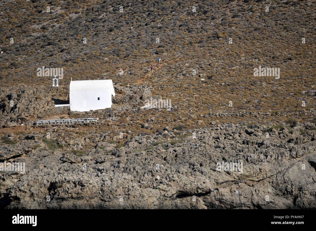 Holydays in Crete -Voyage en Crète - Stock Image