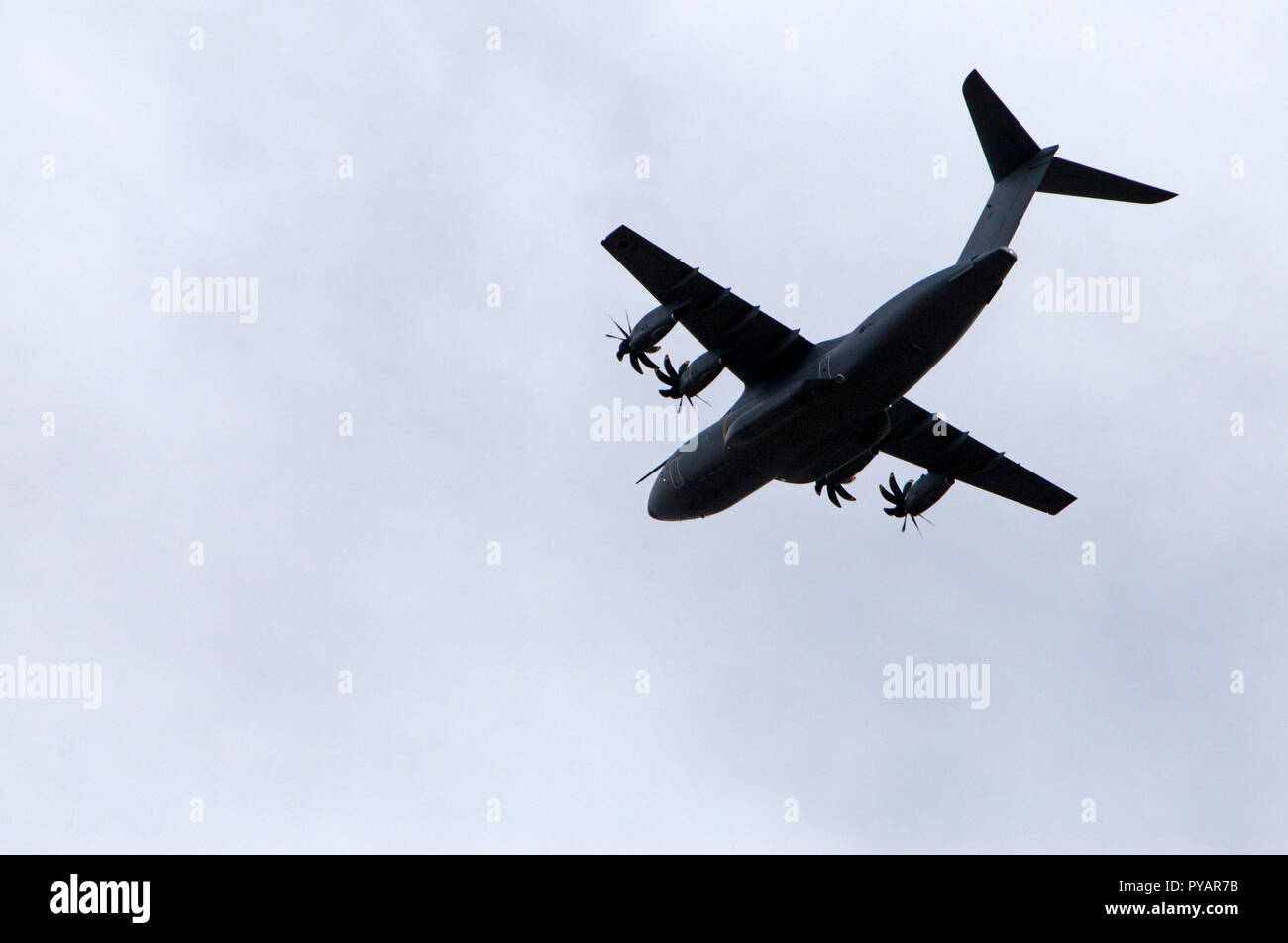 Airbus 400M Atlas transport plane. RAF. Four turboprops. Tactical Airlifter. - Stock Image