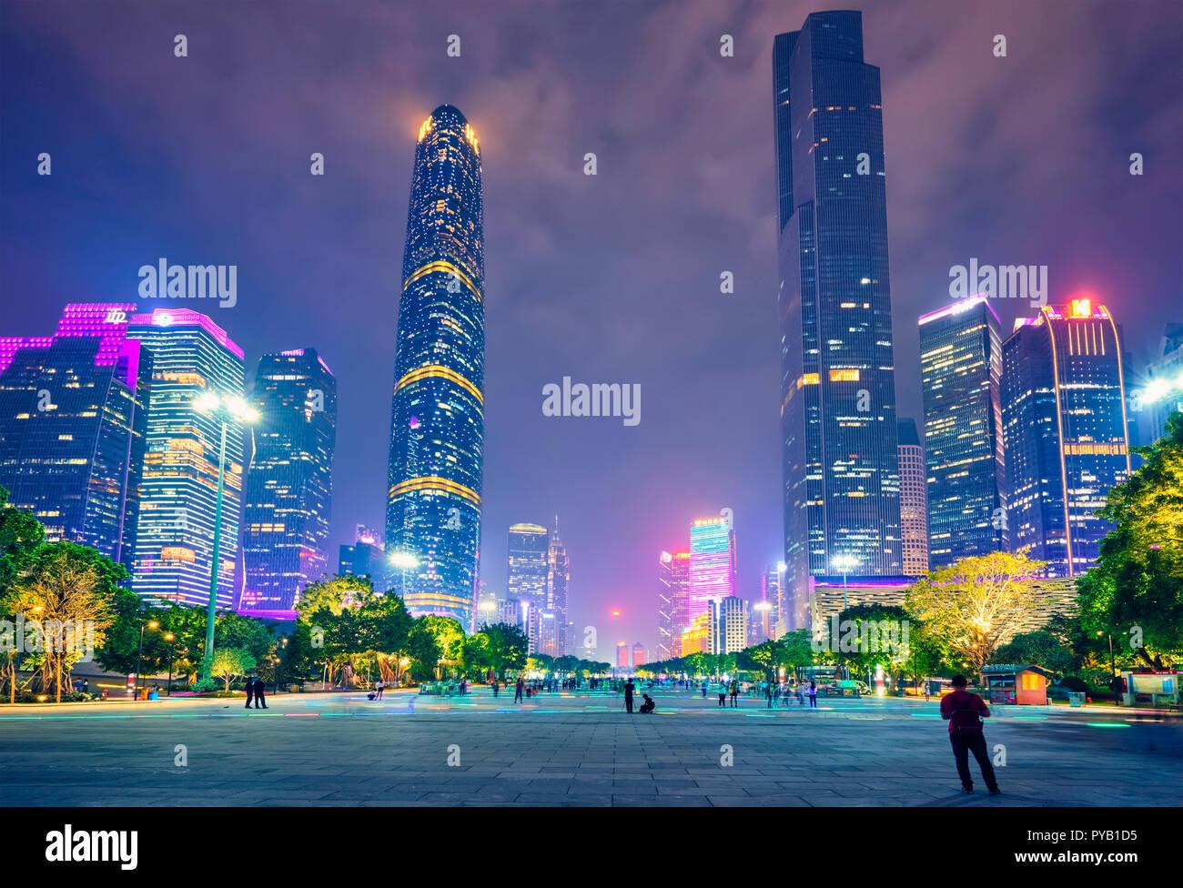Guangzhou skyline. Guangzhou, China - Stock Image
