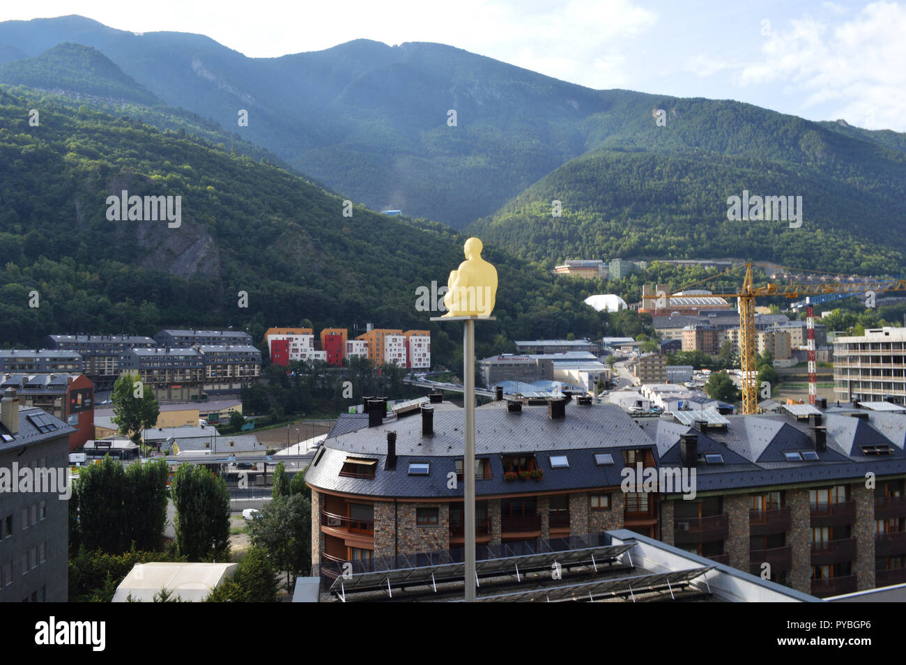 Andorra La Vella, Andorra. 18th Sep, 2018. Andorra la Vella, capital of Andorra, located in the Pyrenees, recorded on 18.09.2018 | usage worldwide Credit: dpa/Alamy Live News Stock Photo