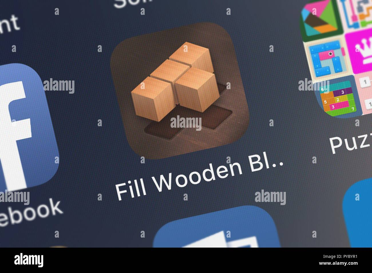 Fill Wooden Block Puzzle 8x8 Stock Photos Fill Wooden Block Puzzle