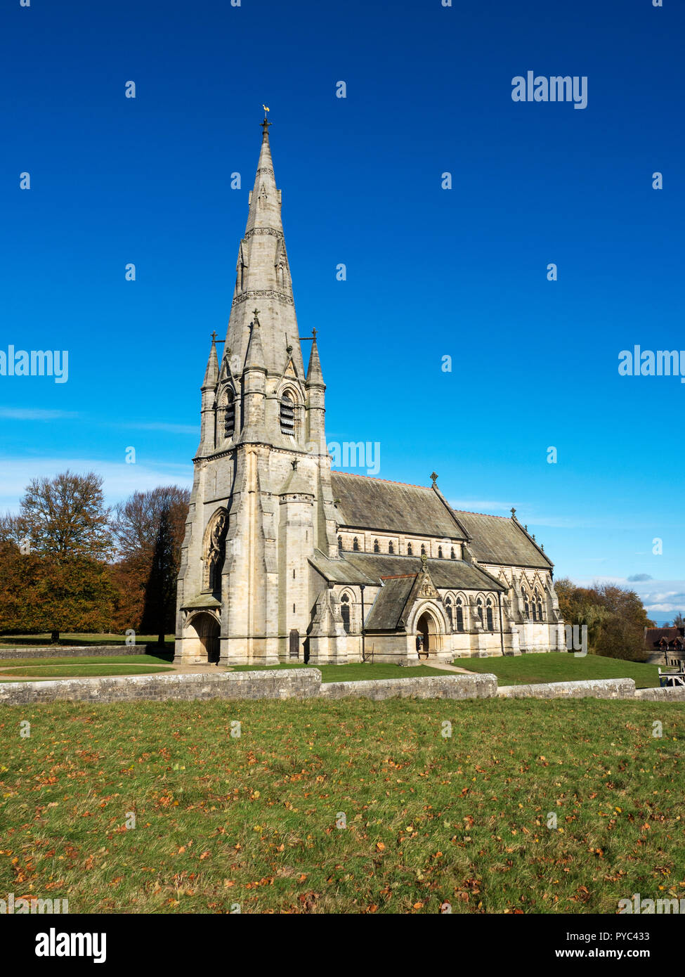St Marys Church in Studley Park near Ripon North Yorkshire England Stock Photo