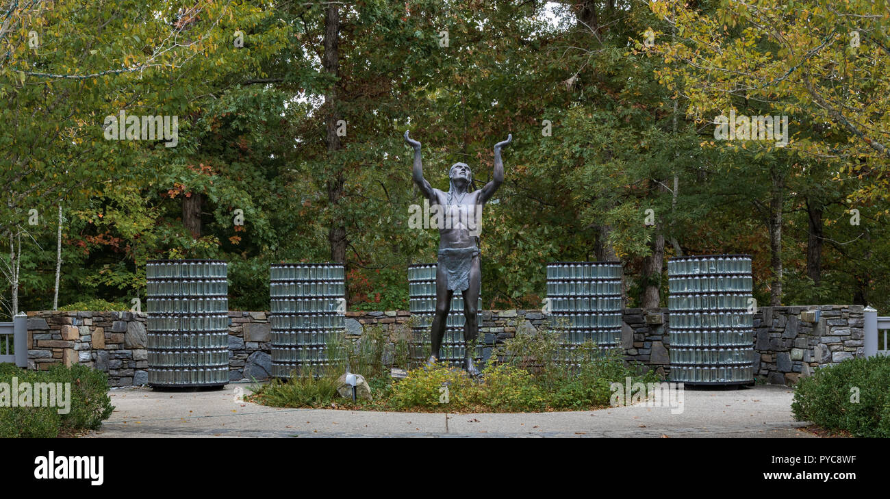 ASHEVILLE, NC, USA-10-25-18: A sculpture located  at the NC Arboretum, created by Nell Banister Scruggs, and dedicated in 2009. - Stock Image