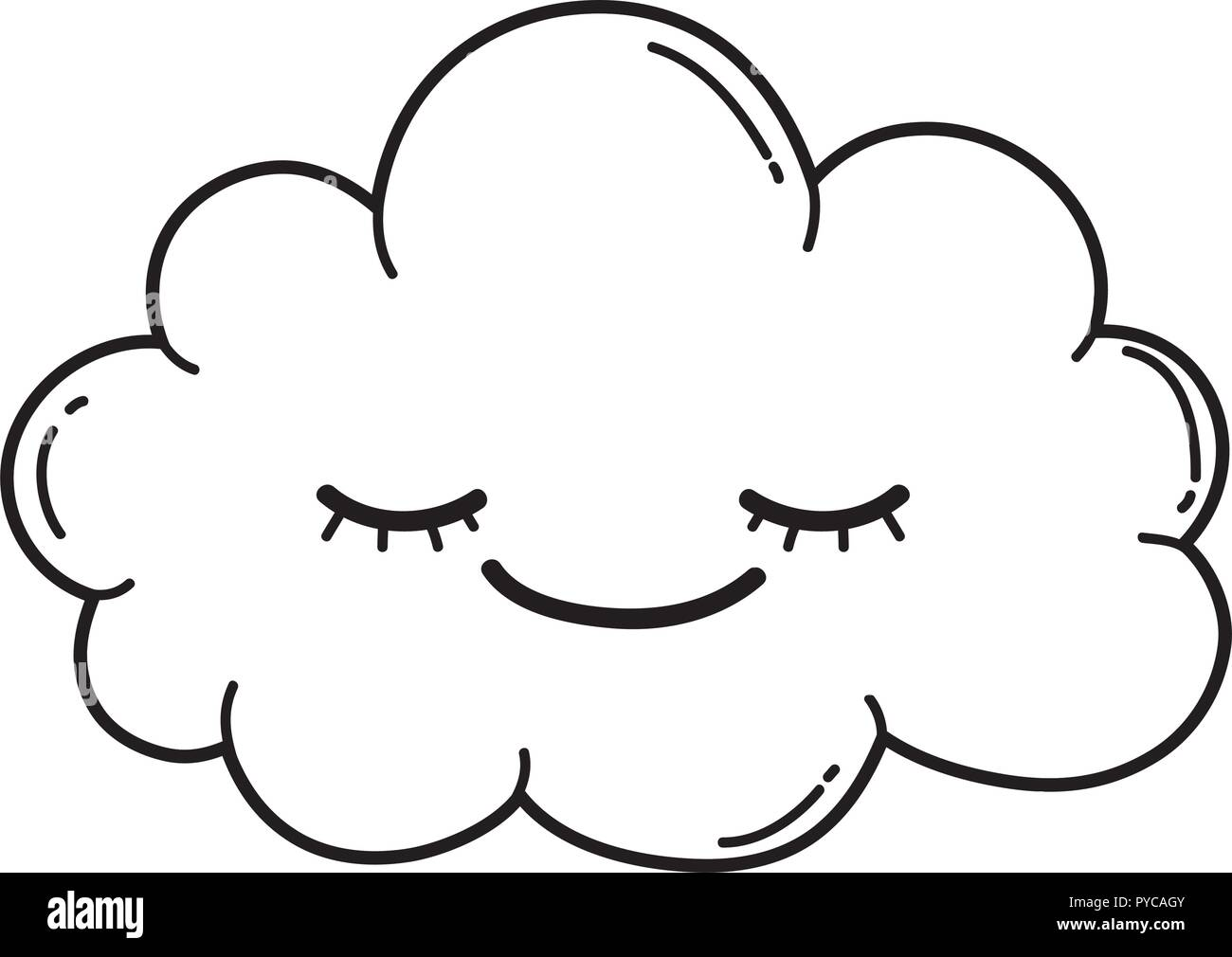 Cute Cloud Cartoon In Black And White Stock Vector Image Art Alamy You found 789 cloud cartoon video effects & stock videos from $7. https www alamy com cute cloud cartoon in black and white image223391867 html