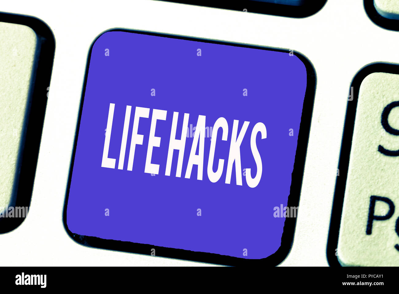 Word writing text Life Hacks  Business concept for Strategy