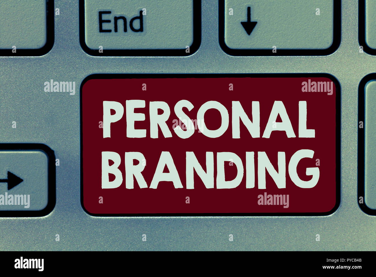 Handwriting text Personal Branding. Concept meaning Marketing themselves and their careers as brands. - Stock Image