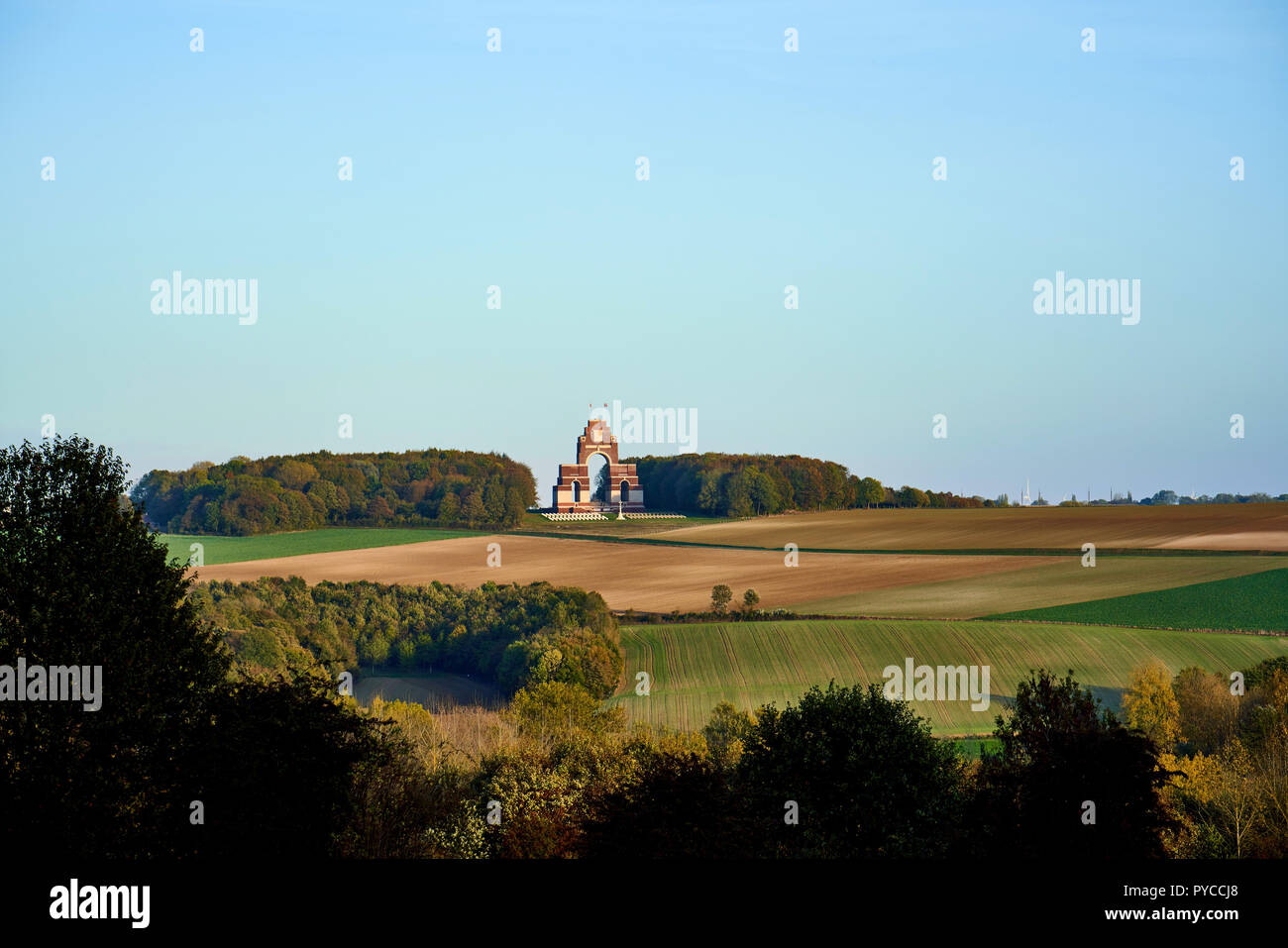 Memorial to the Missing at Thiepval in France - Stock Image