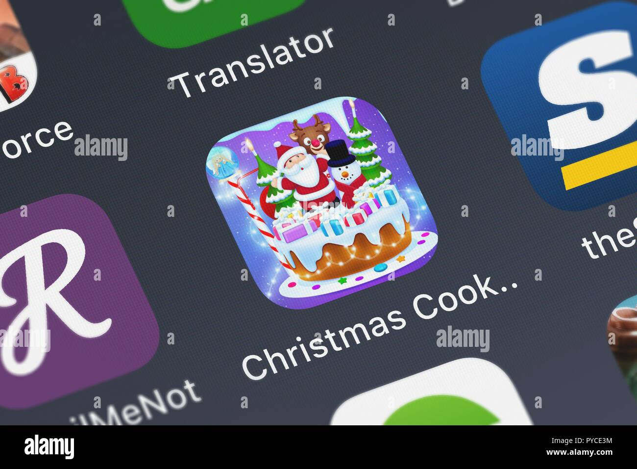 London United Kingdom October 26 2018 Screenshot Of The Christmas Cooking Games Kids Game Girls Boys Mobile App From Studios Llc