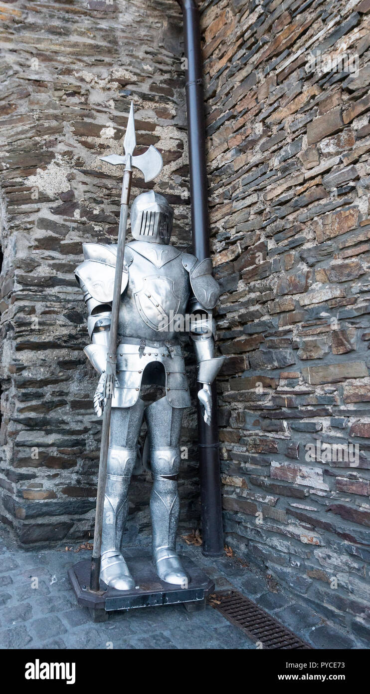 Medieval knight full body armour suit - Stock Image