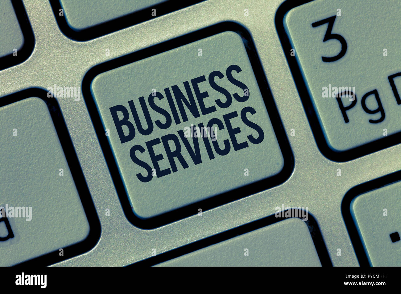 Word writing text Business Services. Business concept for Provides intangible products Bookkeeping IT Accounting. - Stock Image