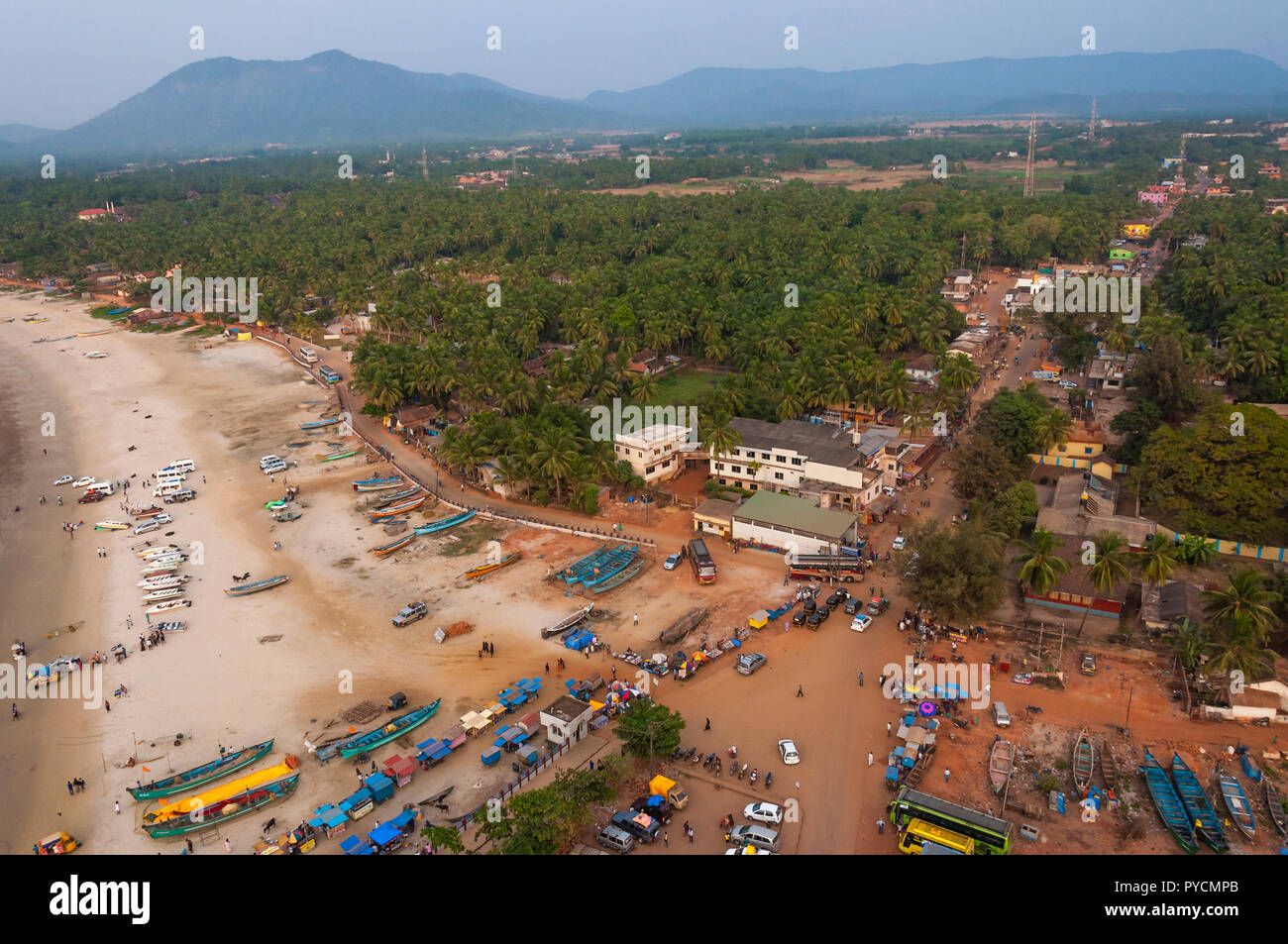 You can see here the Murudeshwar cityscape and citylife style and the level of life itself of course. - Stock Image