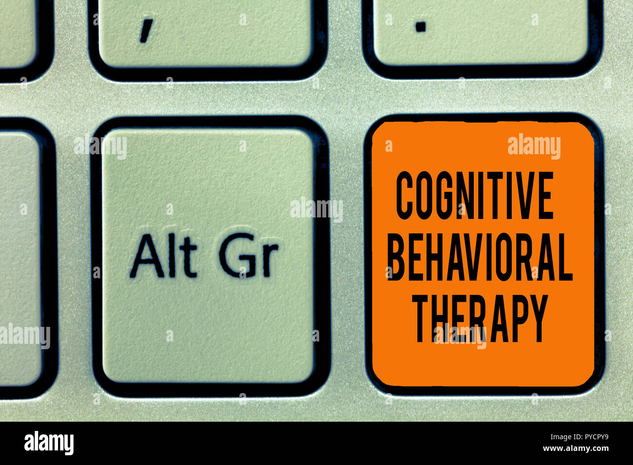 Handwriting text writing Cognitive Behavioral Therapy  Concept