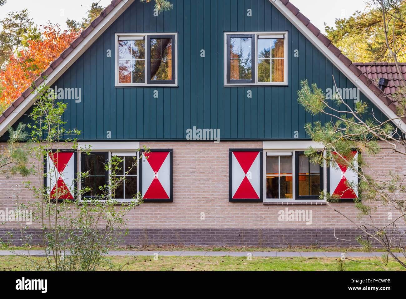 Cozy little holiday home in the Netherlands - Stock Image