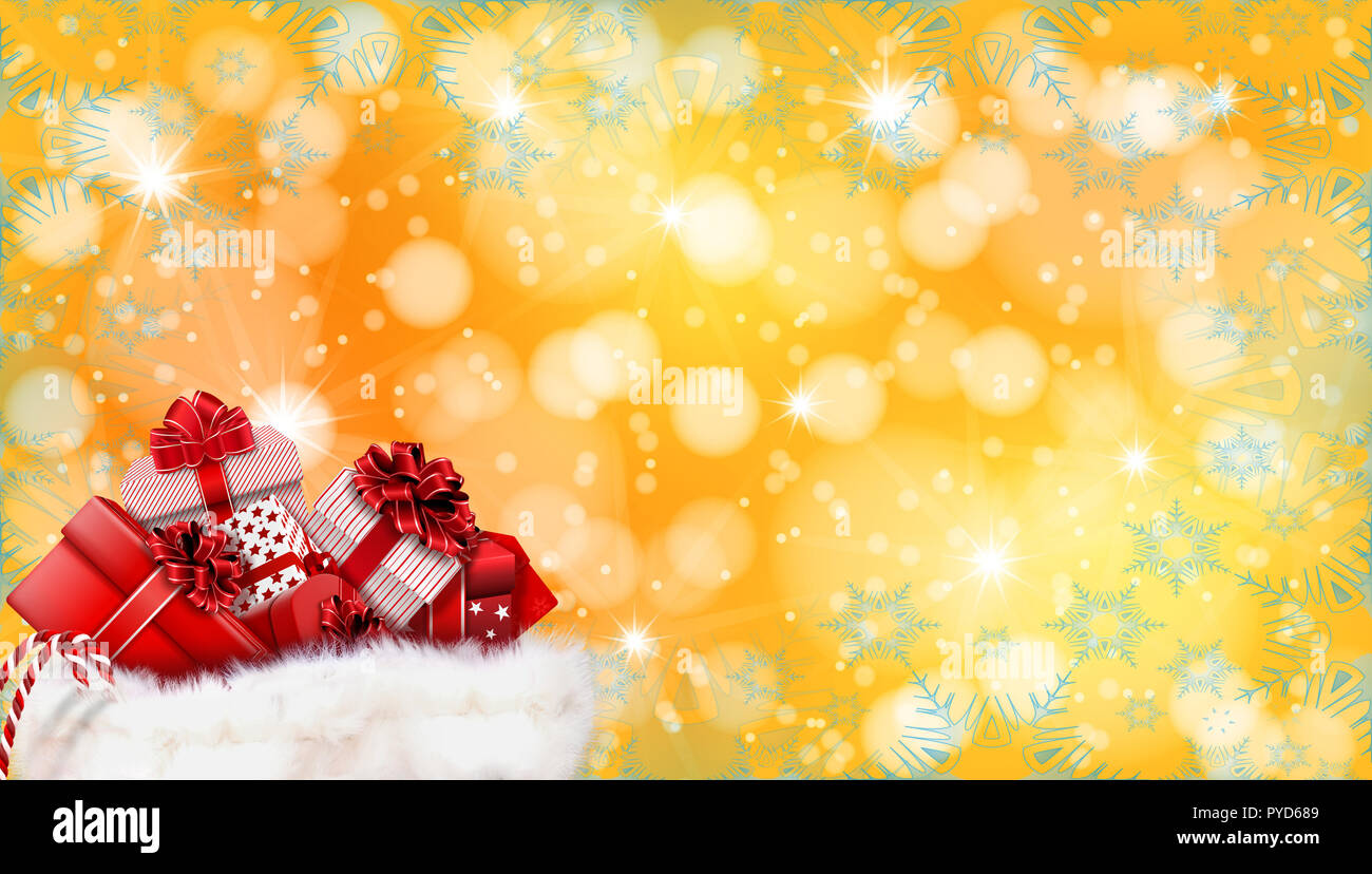 yellow christmas and new year background